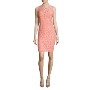 Cynthia Steffe Peach Kennedy lace sheath Dress